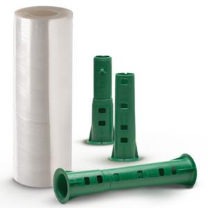 O filme stretch sem tubete é utilizado com um aplicador que encaixa no lugar do tubete de papelão, filme stretch ecologico é um produto inovador disponível nas versões manual convencional, manual pré-estirado e automático.