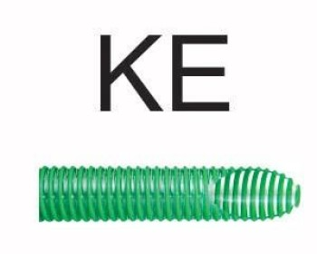 Utilizada para condução e descarga de água, a mangueira Kanaflex flexível KE transparente e espiral verde é muito encontrada em equipamentos do setor agrícolas, como caminhão pipa no abastecimento de água e limpeza de galerias subterrâneas. Esta suporta vários tipos de produtos químicos e materiais abrasivos.
