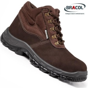 A botina Bracol Nobuck é bonita e protege os pés dos usuários diariamente em galpões e fora deles.
