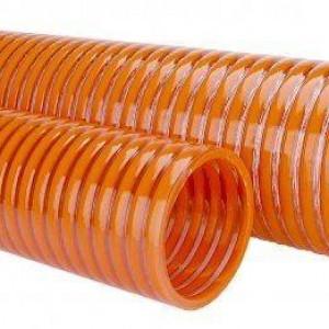 A mangueira kanaflex kp é para sucção na cor laranja com parede espessa para resistir pressões, dispõe de diâmetros variados para encaixe perfeito com flexibilidade para manobras acentuadas. A mangueira da kanaflex fabricada transparente com espiral laranja indicada para serviços considerados pesados de descarga e sucção de líquido, vapor e gases.