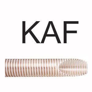 A mangueira kanaflex kaf é indicada no bombeamento, através do acabamento interno chato. As mangueiras kanaflex kaf pode e proporciona diversas utilizações por serem resistentes por possuir uma espessura de parede alta e estruturada por arame de pvc rígido branco. Provida de fios de cobre em sua construção, evita a eletricidade estática. É ideal para sucção e descarga de produtos alimentícios, grãos e produtos onde se exige cuidados para evitar a combustão.
