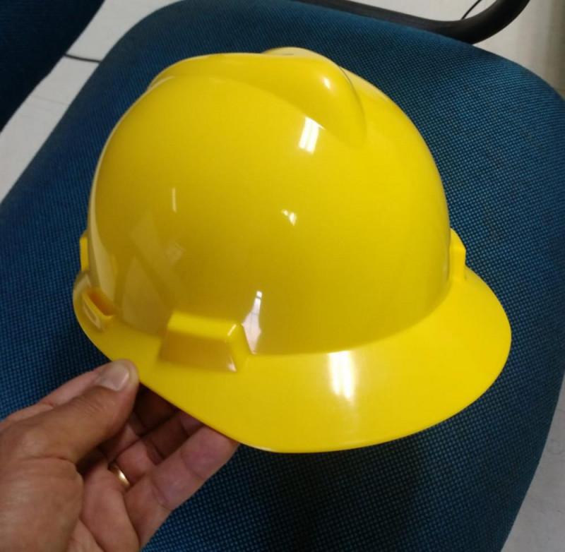 capacete msa amarelo
