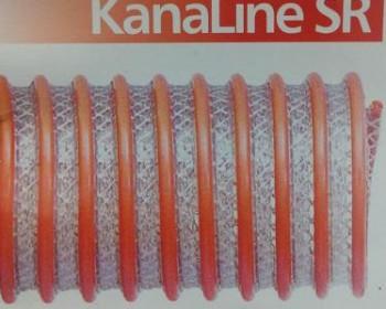A mangueira Kanaflex flexível Kanaline SR é produzida em PVC transparente flexível e espiral laranja rígido. O reforço em poliéster serve para reforçar ainda mais a mangueira, que pode ser submetida em elevadas pressões sem aumentar o seu diâmetro.