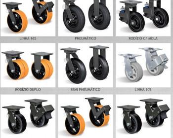 Para fabricar carrinhos de transporte, utiliza-se os rodízios industriais Schioppa, os quais têm acabamento e designer e são aplicados em movimentação de cargas leves, médias e pesadas com destreza, independentemente se o piso é irregular, rústico ou nivelado.