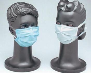 A máscara descartável com elástico oferece barreira de filtração contra partículas suspensas no ar, protegendo o usuário contra poeiras, fumos e névoas.