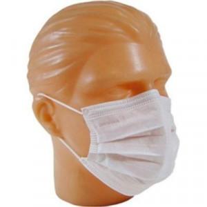 A máscara descartável com elástico e clip nasal tem um grande poder de retenção de poeiras e névoas que são prejudiciais à saúde.