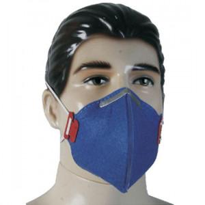 Respirador e máscara descartável com válvula é para impedir a entrada de partículas nas vias respiratória, com designer inovador o produto apresenta um extraordinário poder de filtragem que eliminam e barram poeiras e névoas suspensas ao ar.